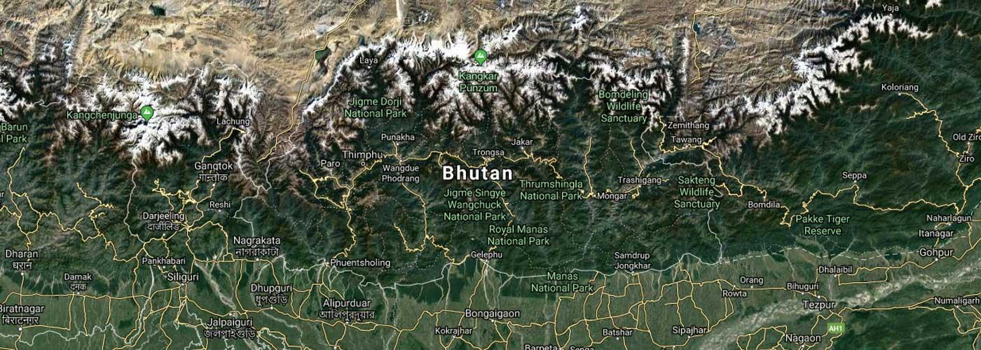 Bhutan Map Picture