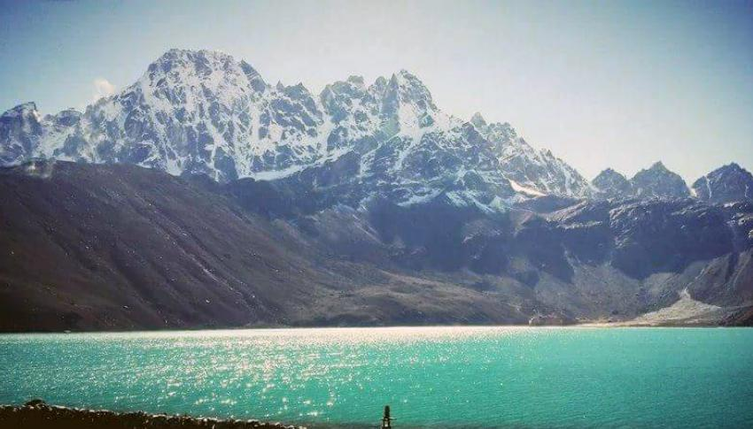 Gokyo Lake view on the way to Everest Base Camp